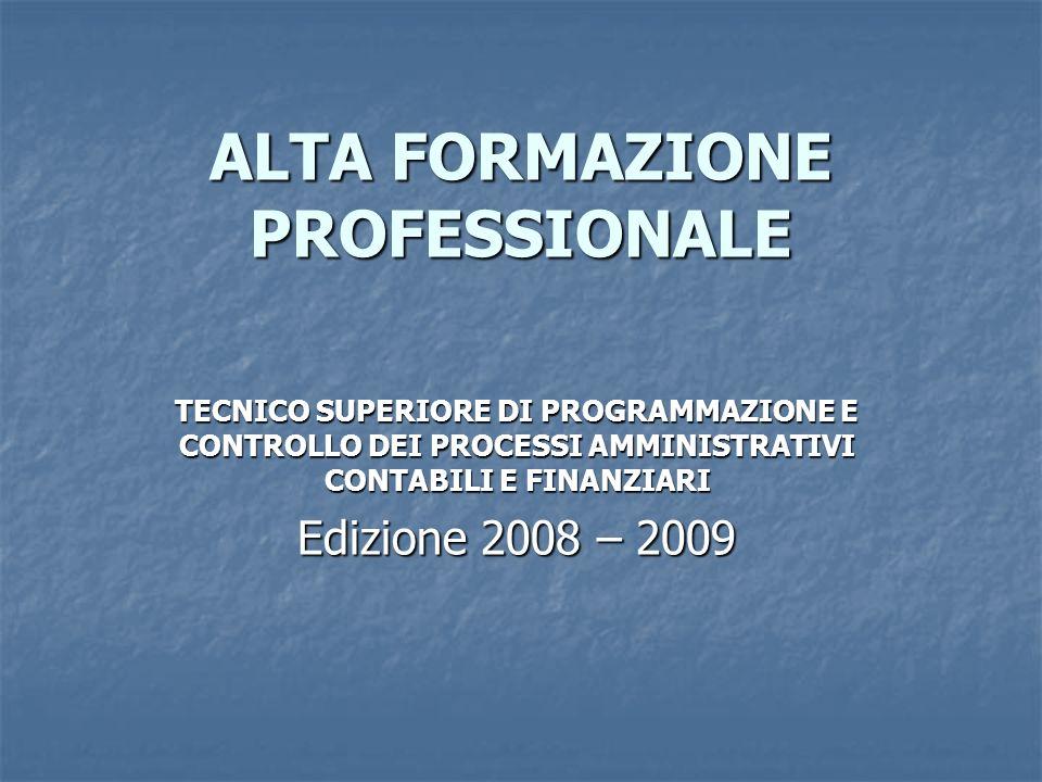 ALTA FORMAZIONE PROFESSIONALE