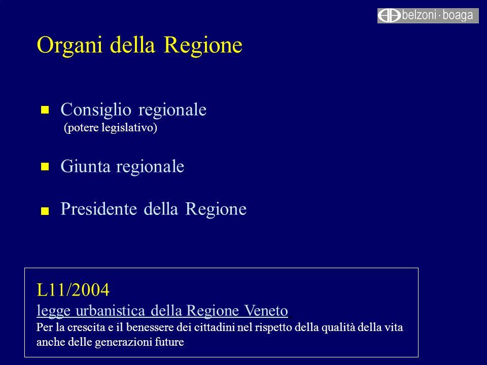 Organi della Regione Consiglio regionale Giunta regionale