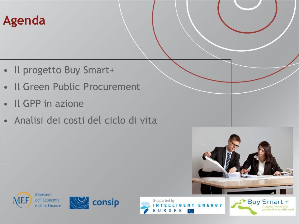 Agenda Il progetto Buy Smart+ Il Green Public Procurement