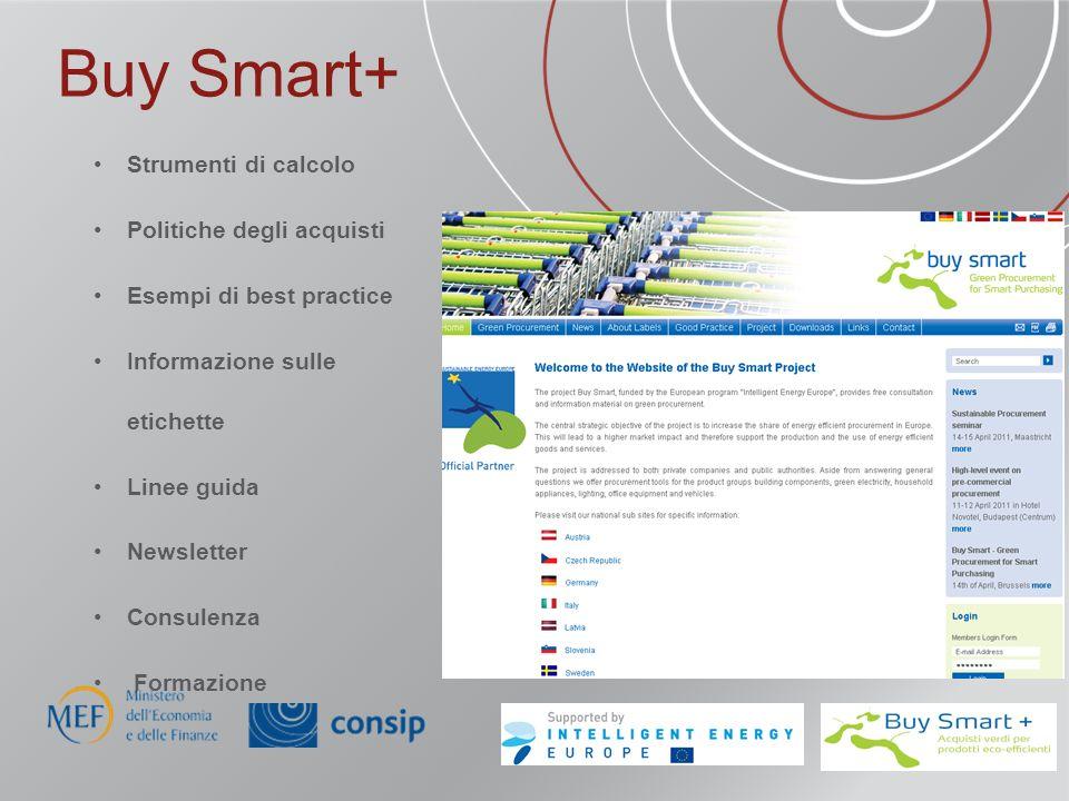 Buy Smart+ Strumenti di calcolo Politiche degli acquisti