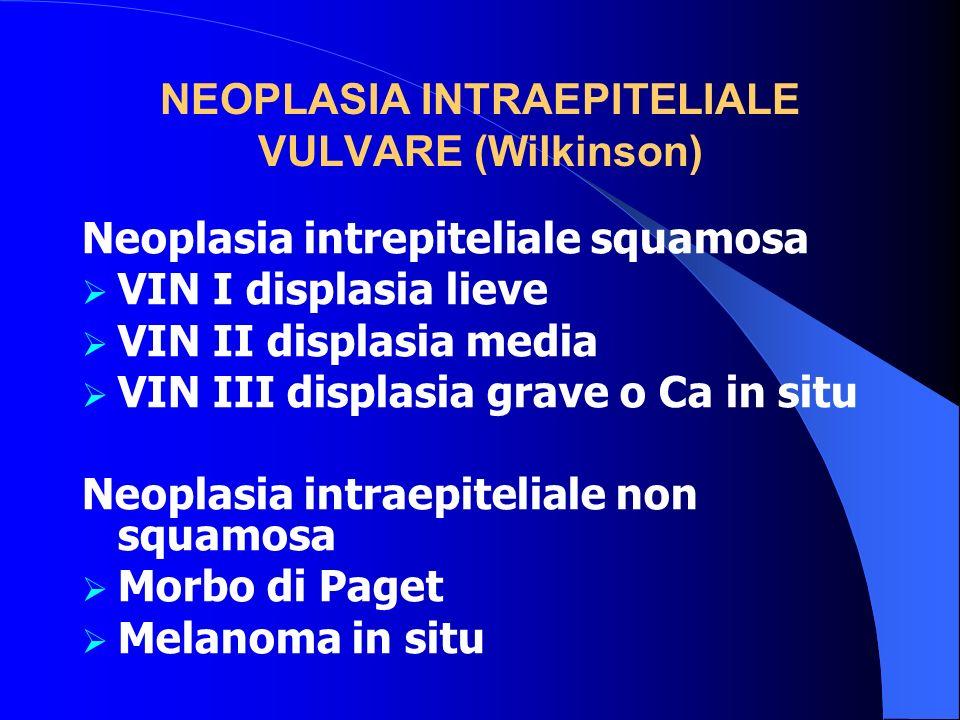 NEOPLASIA INTRAEPITELIALE VULVARE (Wilkinson)
