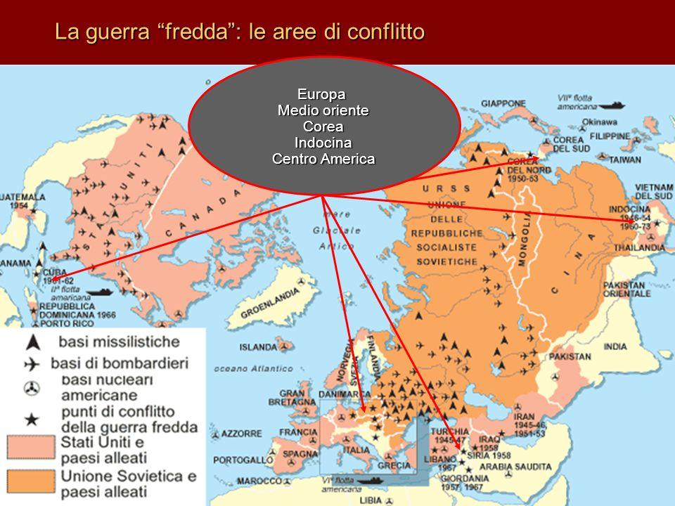 La guerra fredda : le aree di conflitto