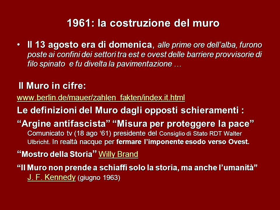 1961: la costruzione del muro