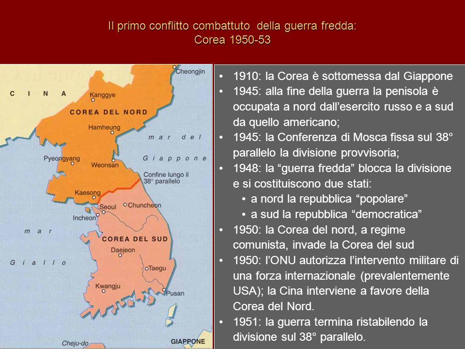 Il primo conflitto combattuto della guerra fredda: Corea 1950-53