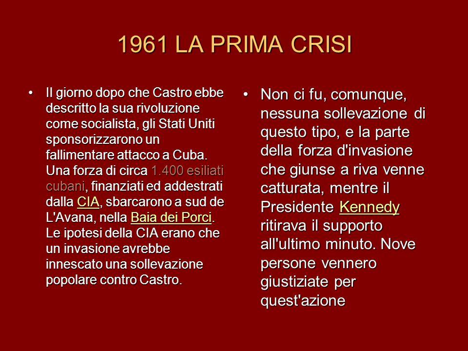 1961 LA PRIMA CRISI