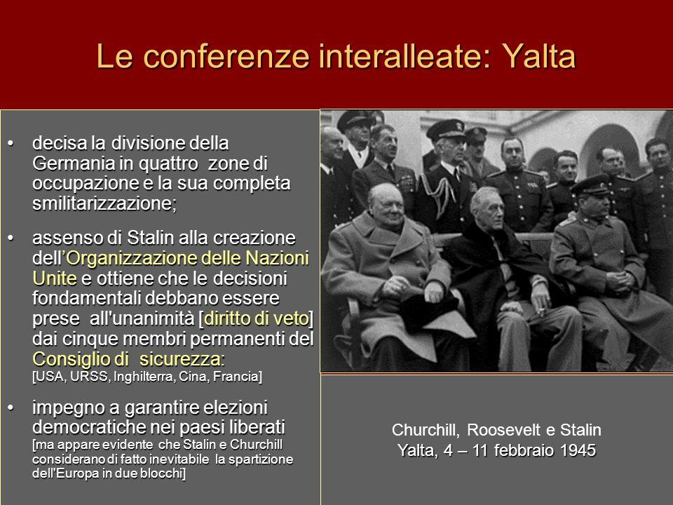 Le conferenze interalleate: Yalta