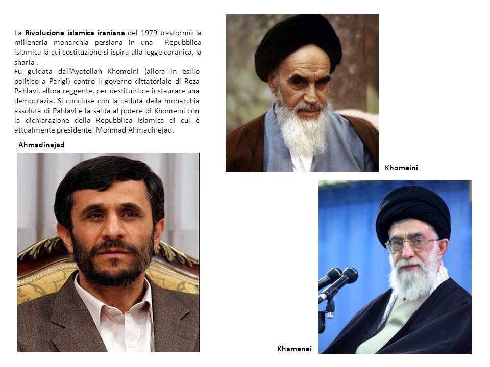 La Rivoluzione islamica iraniana del 1979 trasformò la millenaria monarchia persiana in una Repubblica islamica la cui costituzione si ispira alla legge coranica, la sharia .