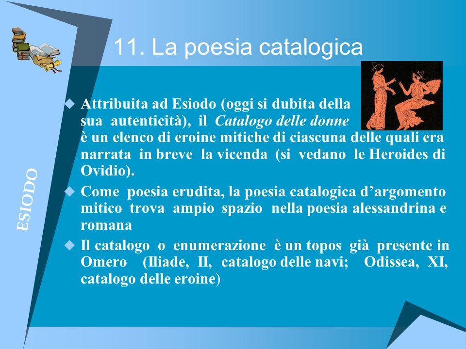 11. La poesia catalogica