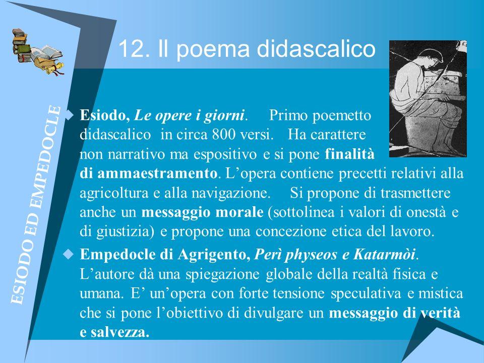 12. Il poema didascalico