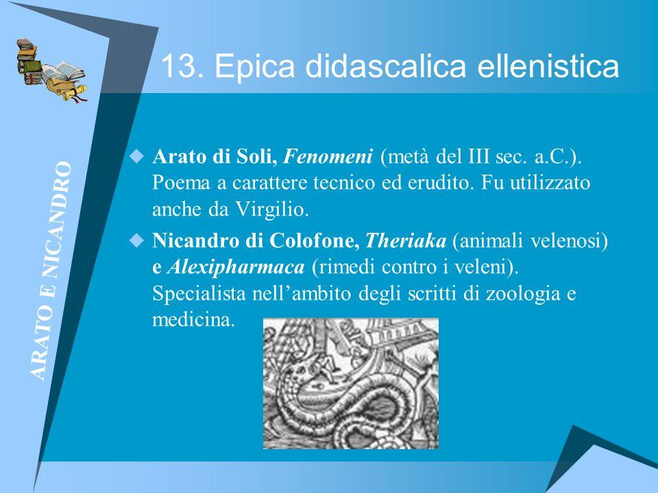 13. Epica didascalica ellenistica