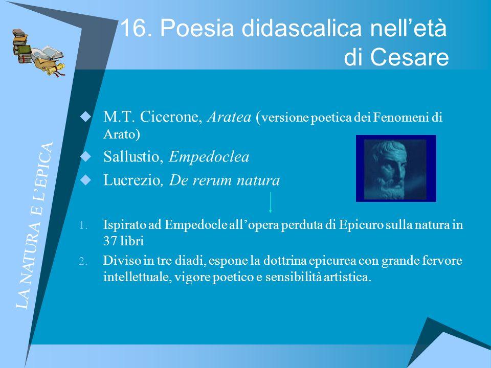 16. Poesia didascalica nell'età di Cesare