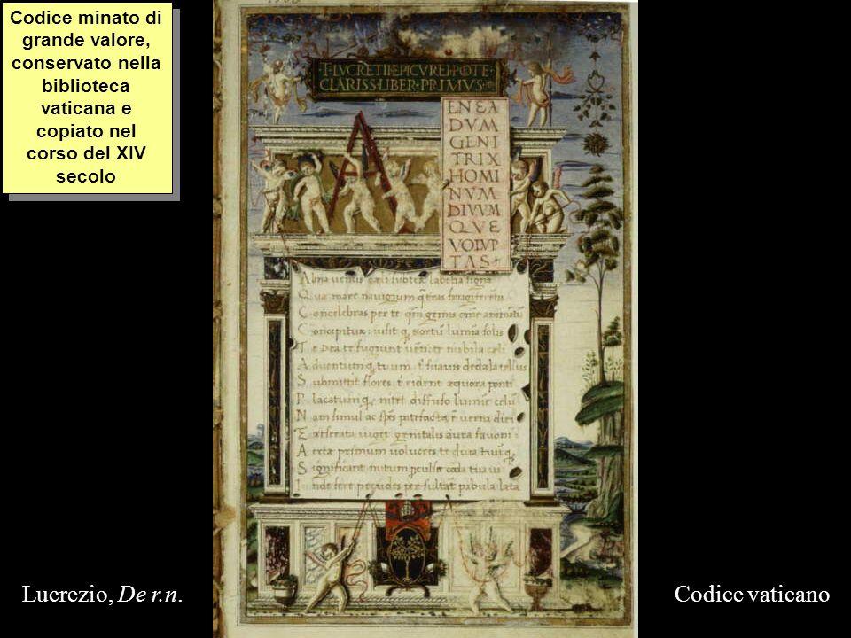 Lucrezio, De r.n. Codice vaticano