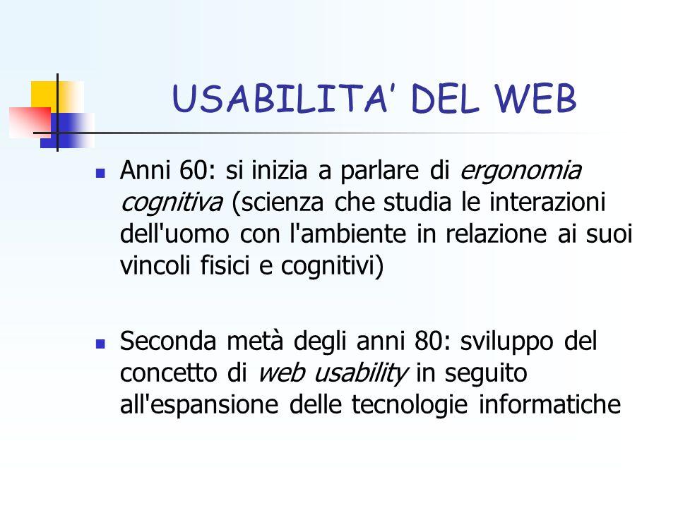 USABILITA' DEL WEB