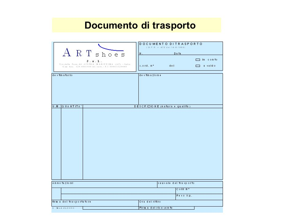 Documento di trasporto