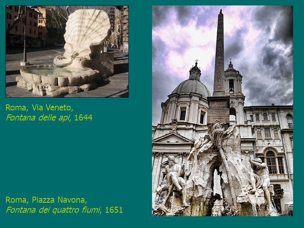 Roma, Piazza Navona, Fontana dei quattro fiumi, 1651