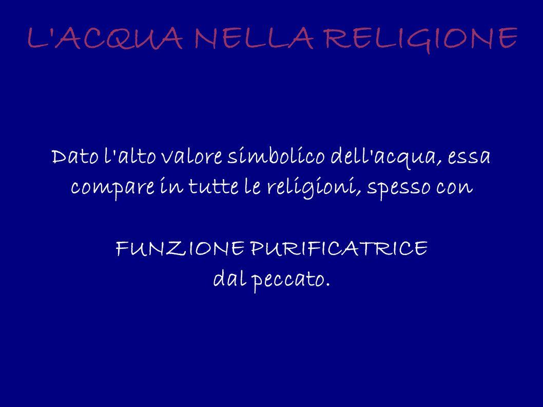 L ACQUA NELLA RELIGIONE