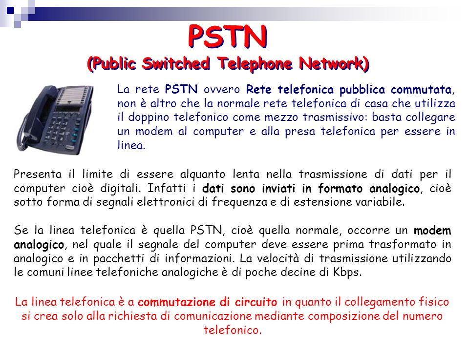 PSTN (Public Switched Telephone Network)