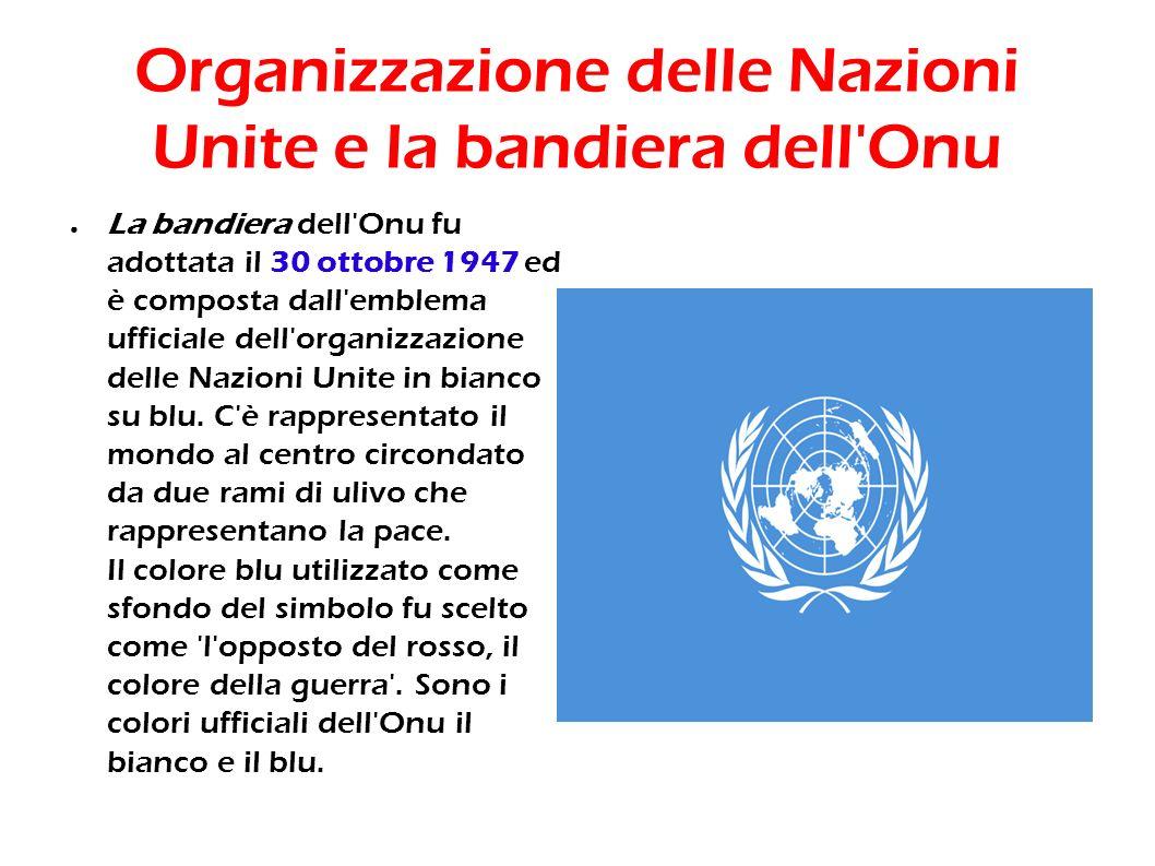 Organizzazione delle Nazioni Unite e la bandiera dell Onu