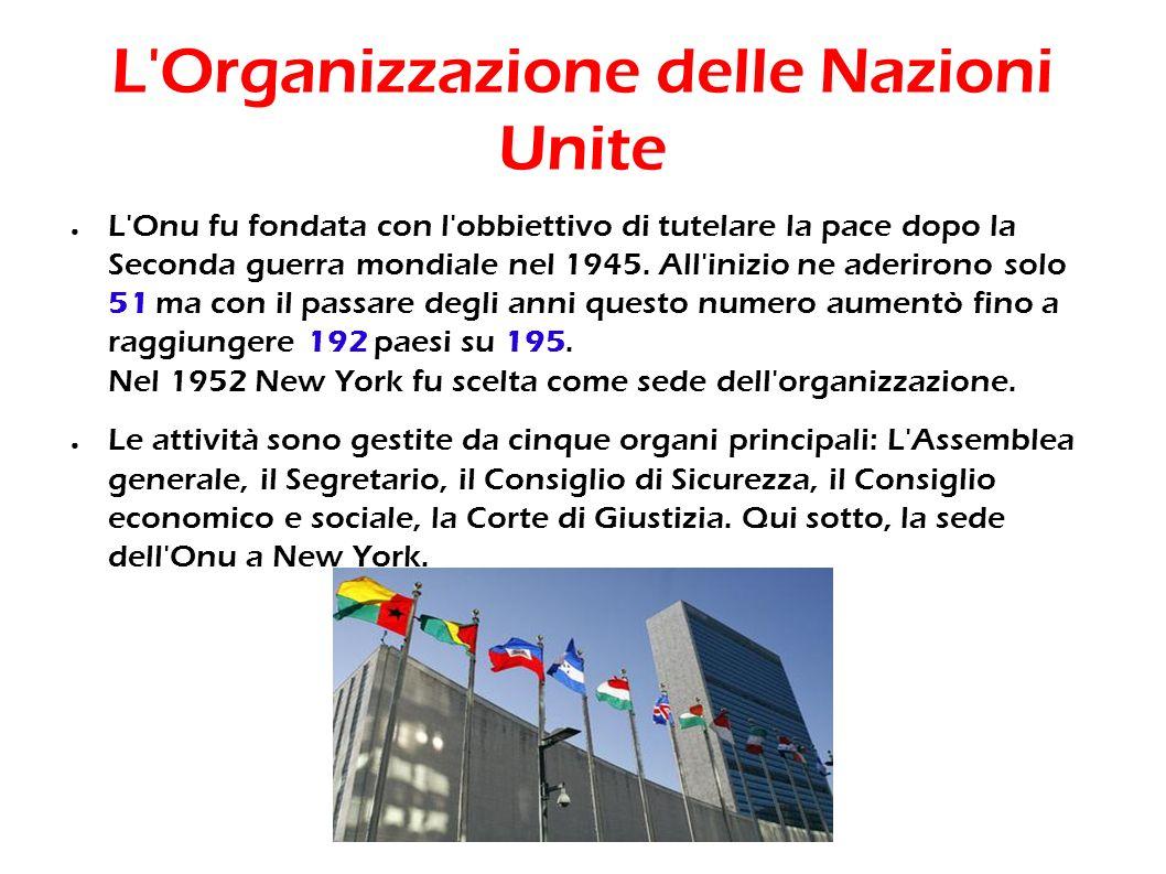 L Organizzazione delle Nazioni Unite