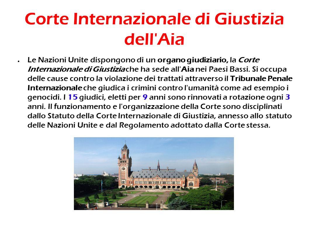 Corte Internazionale di Giustizia dell Aia