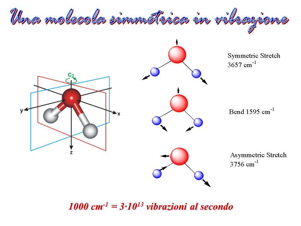 Una molecola simmetrica in vibrazione