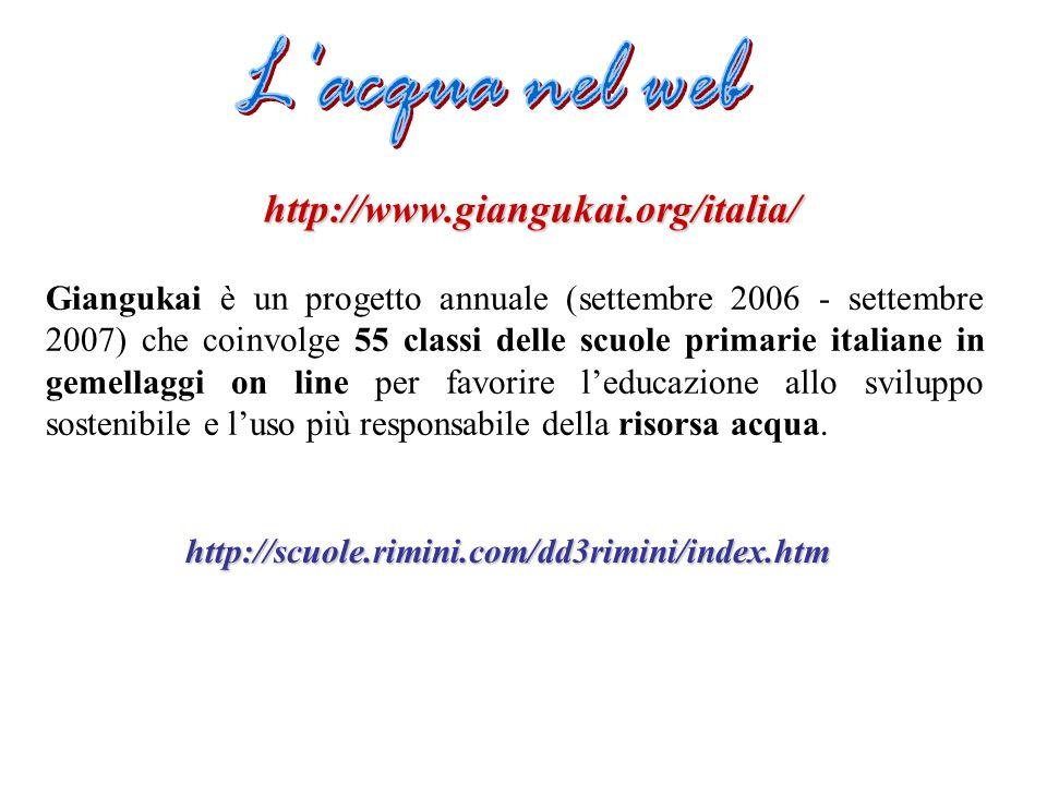 L acqua nel web http://www.giangukai.org/italia/