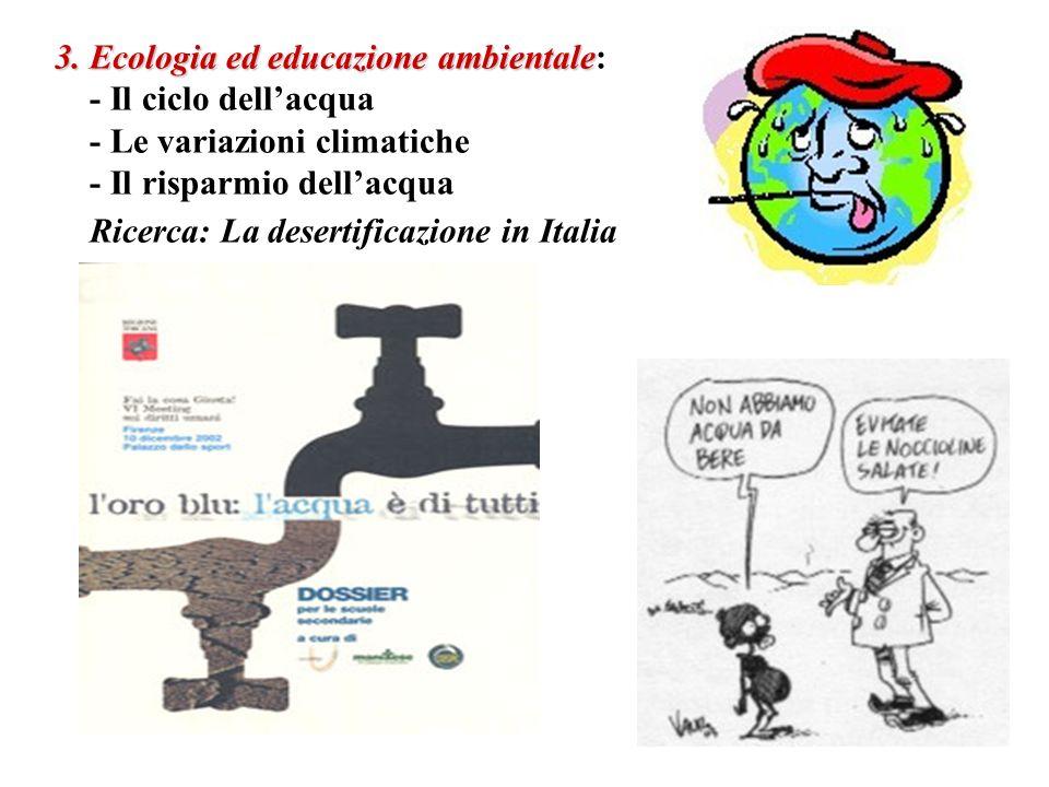 3. Ecologia ed educazione ambientale: