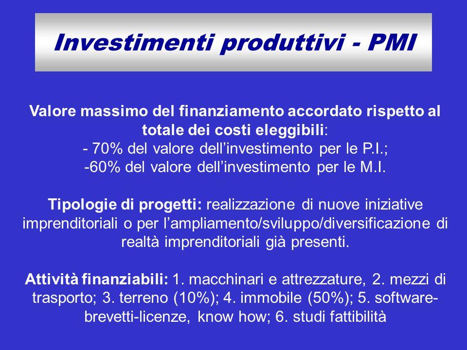 Investimenti produttivi - PMI