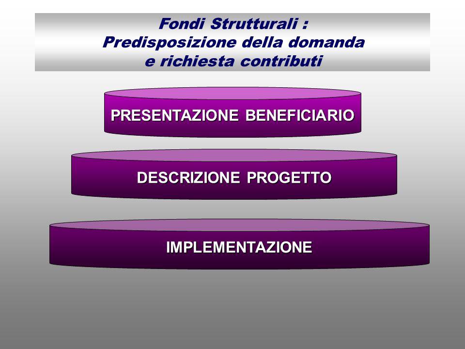 PRESENTAZIONE BENEFICIARIO