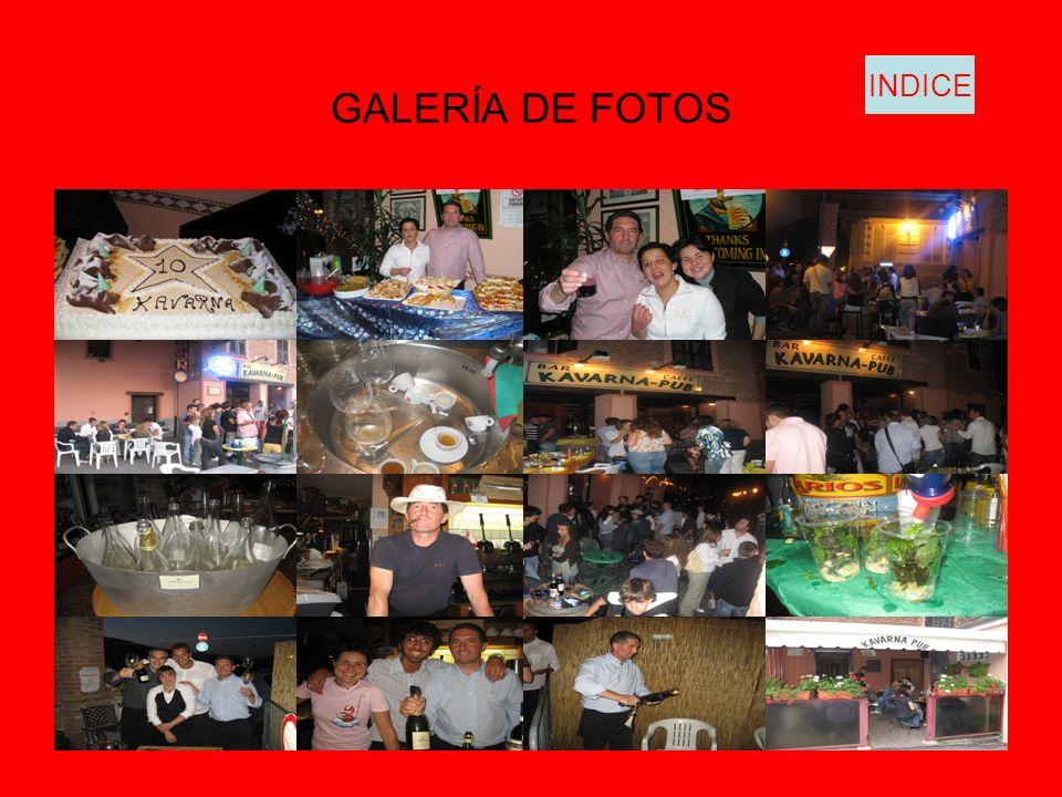 GALERÍA DE FOTOS INDICE