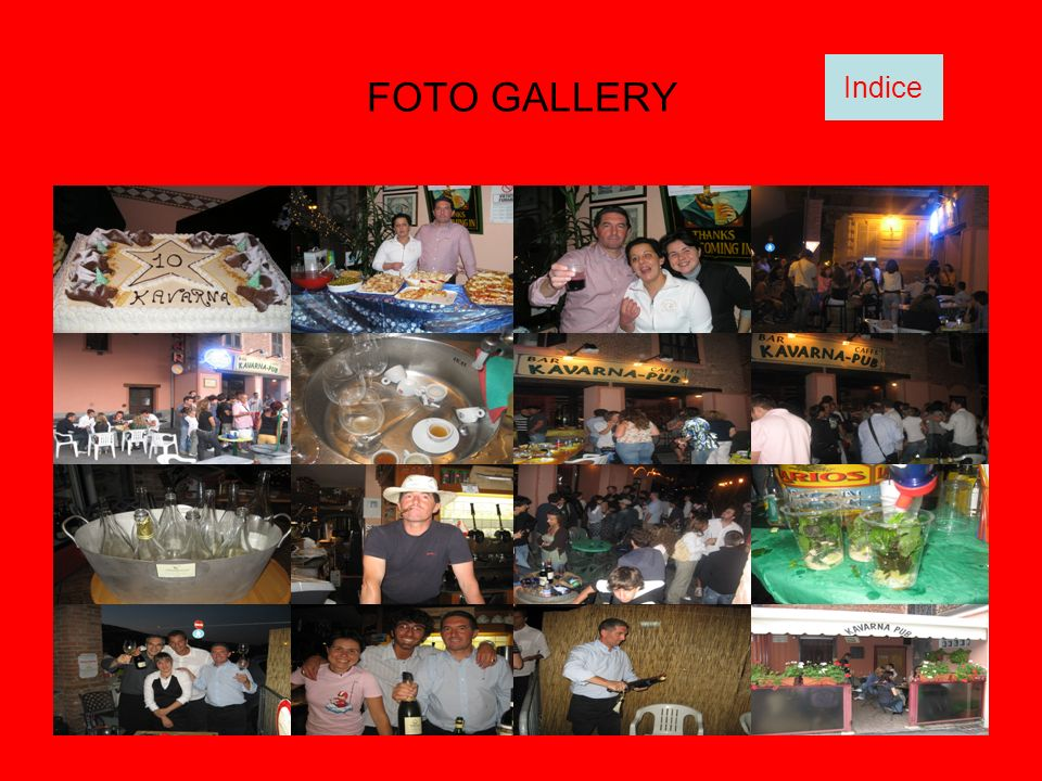 FOTO GALLERY Indice