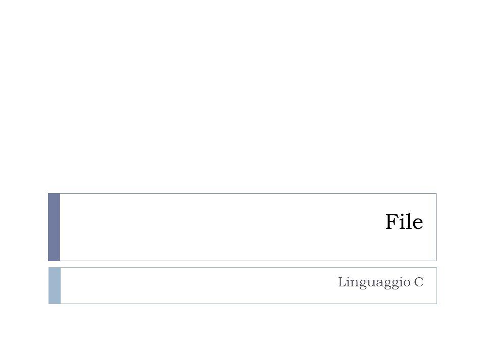 File Linguaggio C