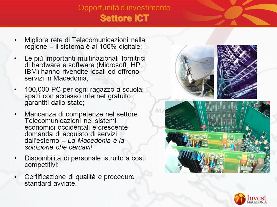 Opportunità d'investimento Settore ICT