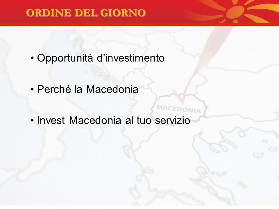 Opportunità d'investimento Perché la Macedonia