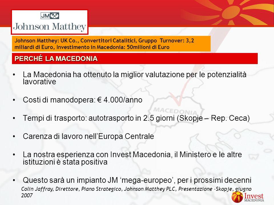 Costi di manodopera: € 4.000/anno
