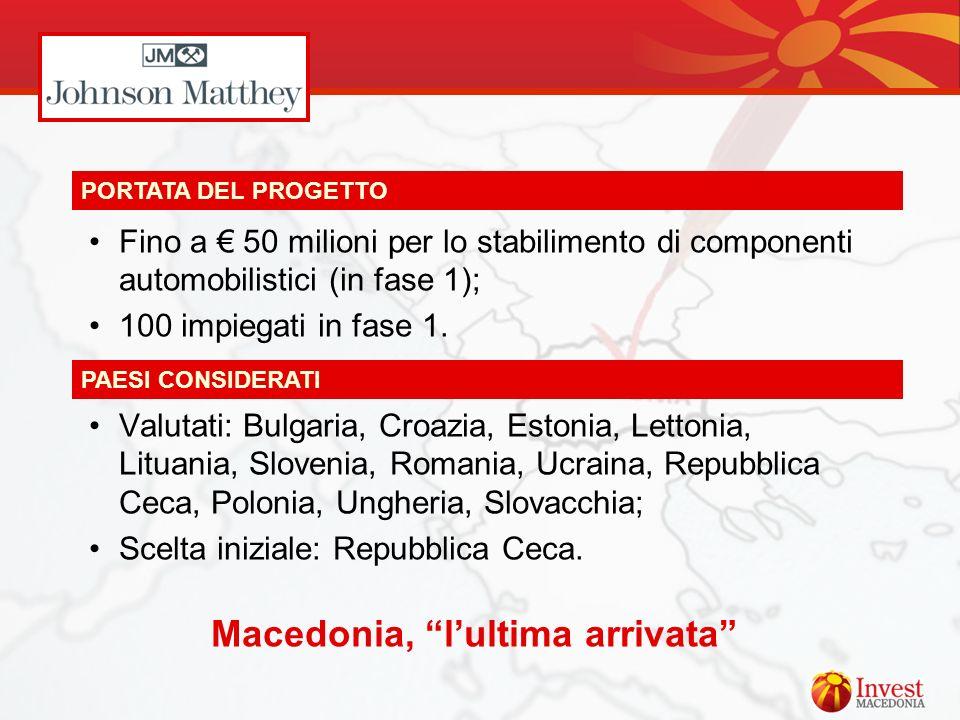 Macedonia, l'ultima arrivata