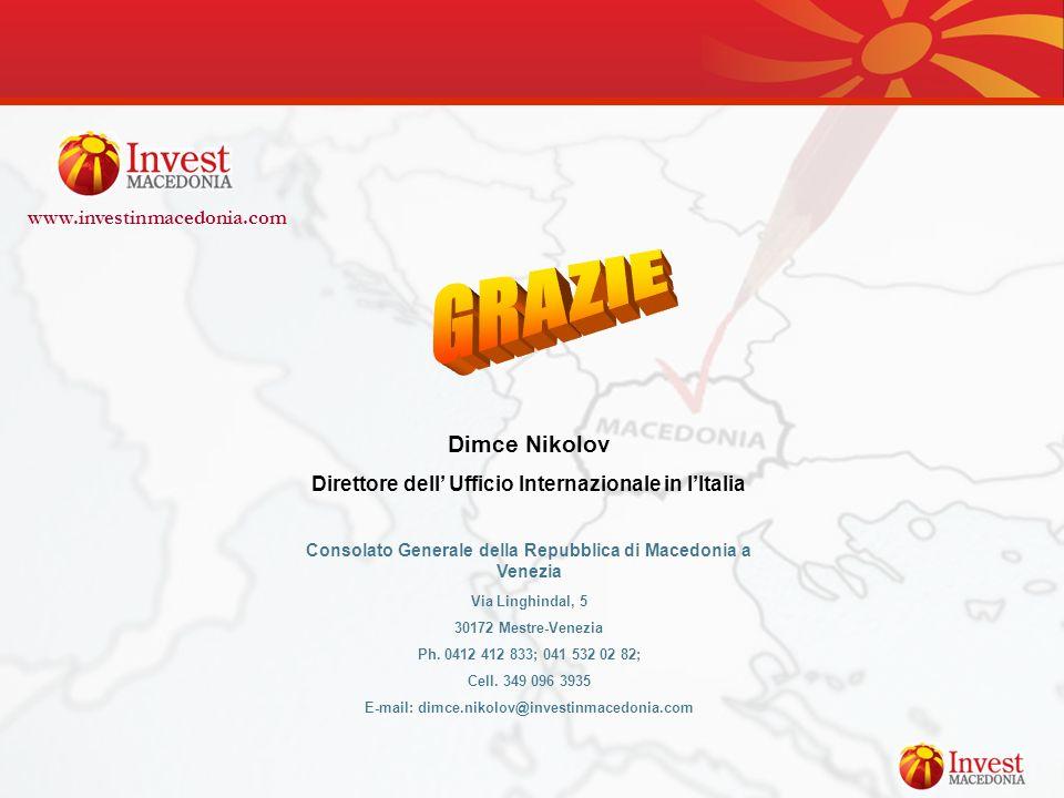GRAZIE Dimce Nikolov www.investinmacedonia.com
