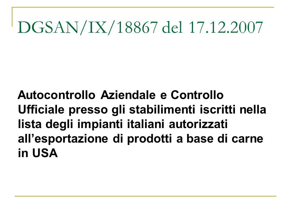 DGSAN/IX/18867 del 17.12.2007
