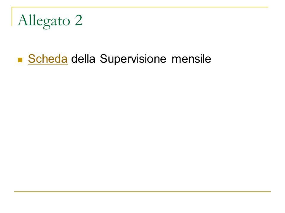 Allegato 2 Scheda della Supervisione mensile