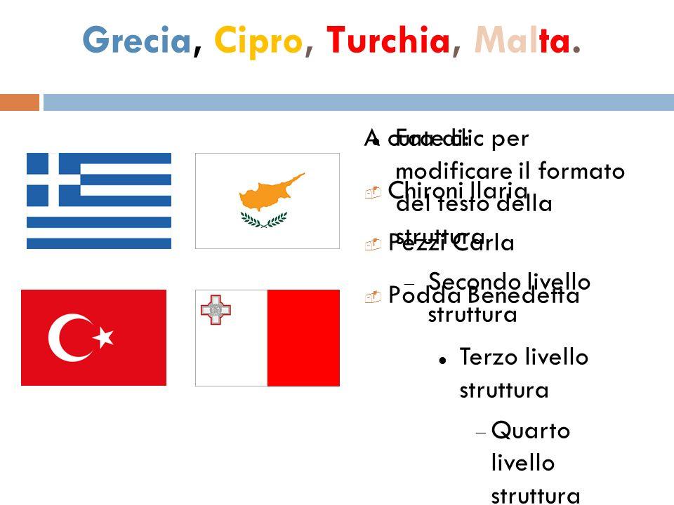 Grecia, Cipro, Turchia, Malta.