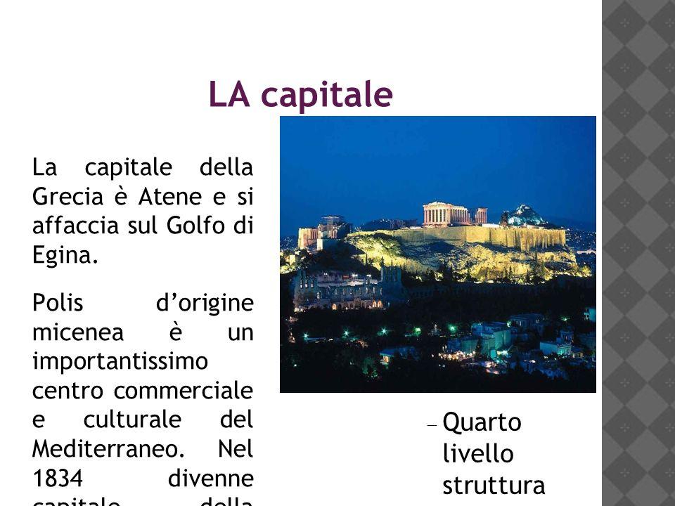 LA capitale La capitale della Grecia è Atene e si affaccia sul Golfo di Egina.