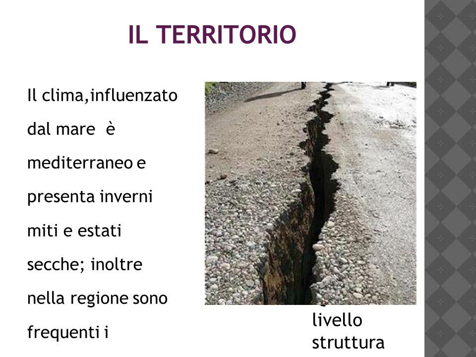 IL TERRITORIO Il clima,influenzato dal mare è mediterraneo e