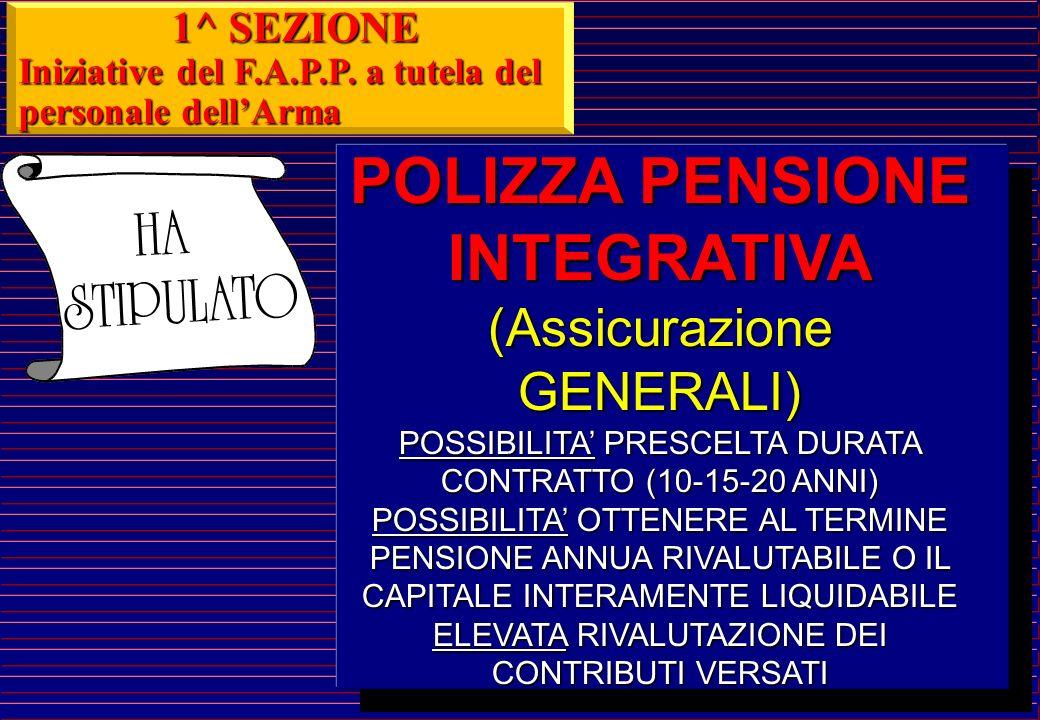 POLIZZA PENSIONE INTEGRATIVA