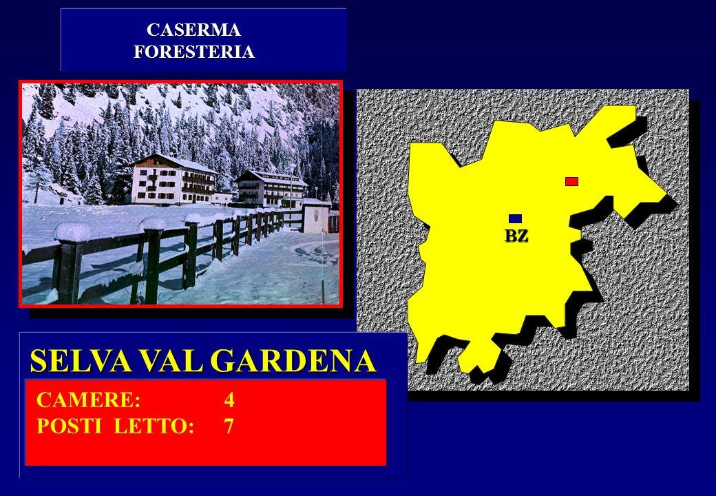 CASERMA FORESTERIA BZ SELVA VAL GARDENA CAMERE: 4 POSTI LETTO: 7