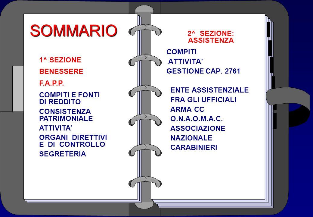 SOMMARIO 2^ SEZIONE: ASSISTENZA COMPITI ATTIVITA' GESTIONE CAP. 2761