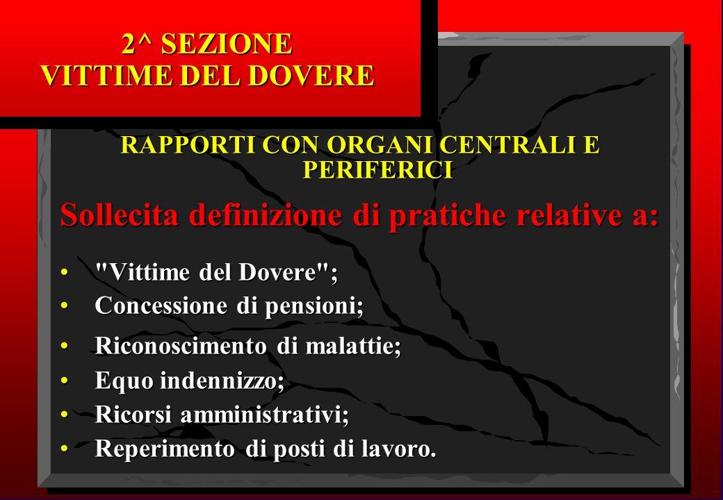 2^ SEZIONE VITTIME DEL DOVERE