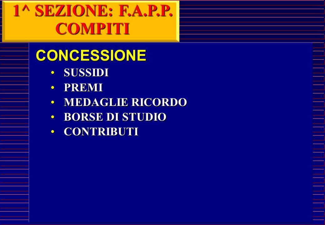 1^ SEZIONE: F.A.P.P. COMPITI