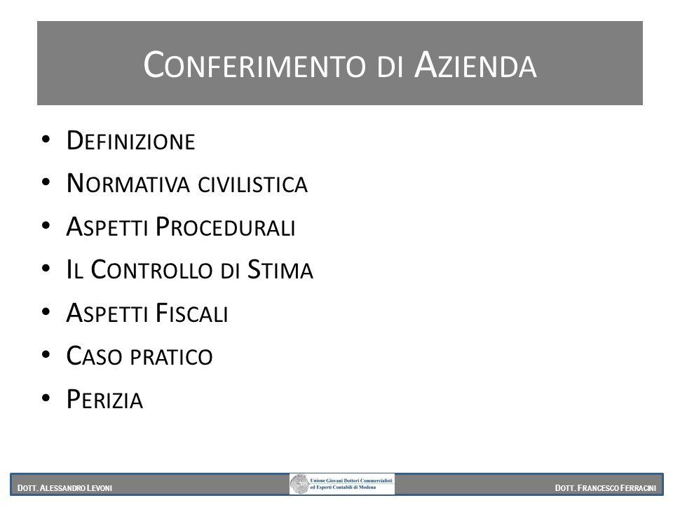 Conferimento di Azienda