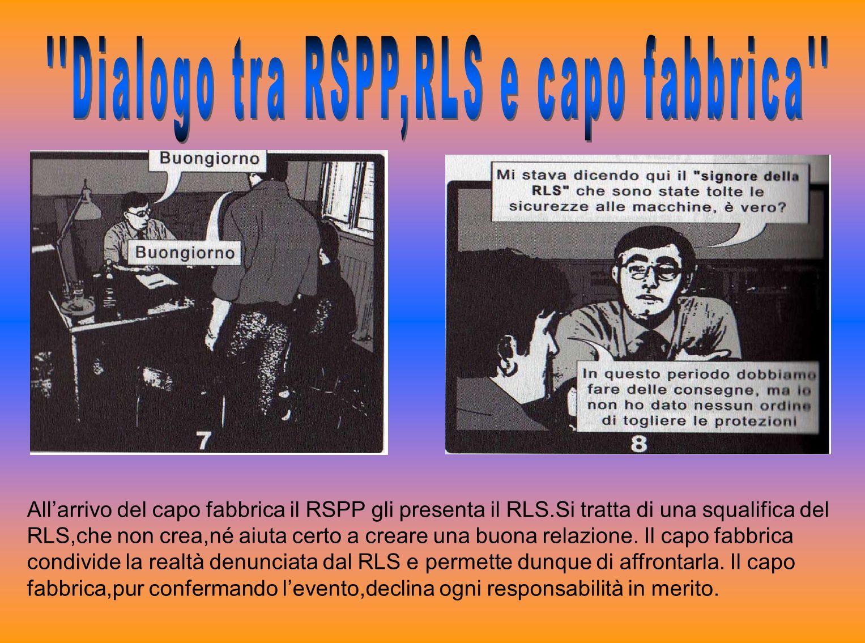 Dialogo tra RSPP,RLS e capo fabbrica