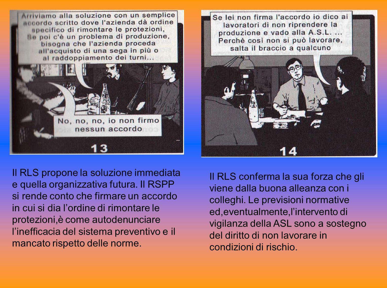 Il RLS propone la soluzione immediata e quella organizzativa futura